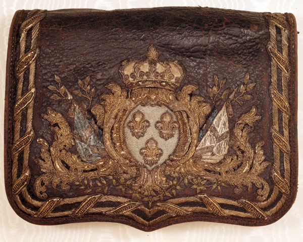 French infantry cartridge pouch taken at Dettingen, 1743