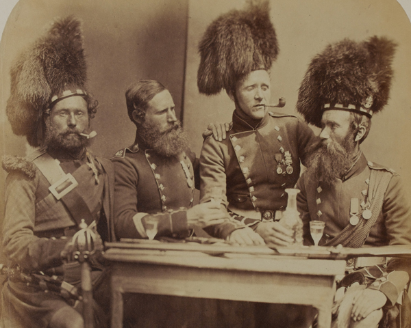 Soldiers of the 42nd (The Royal Highland) Regiment of Foot, 1856