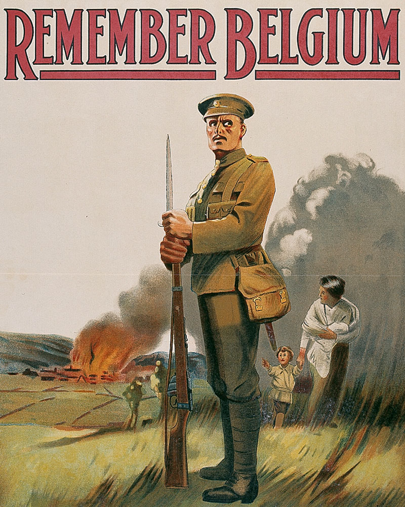 'Remember Belgium. Enlist To-day', 1914
