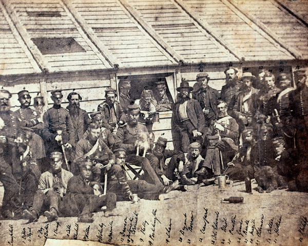 Soldiers of the 18th Royal Irish Regiment in camp, Sebastopol, 1856