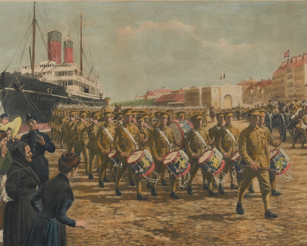 The BEF arriving in France, 1914