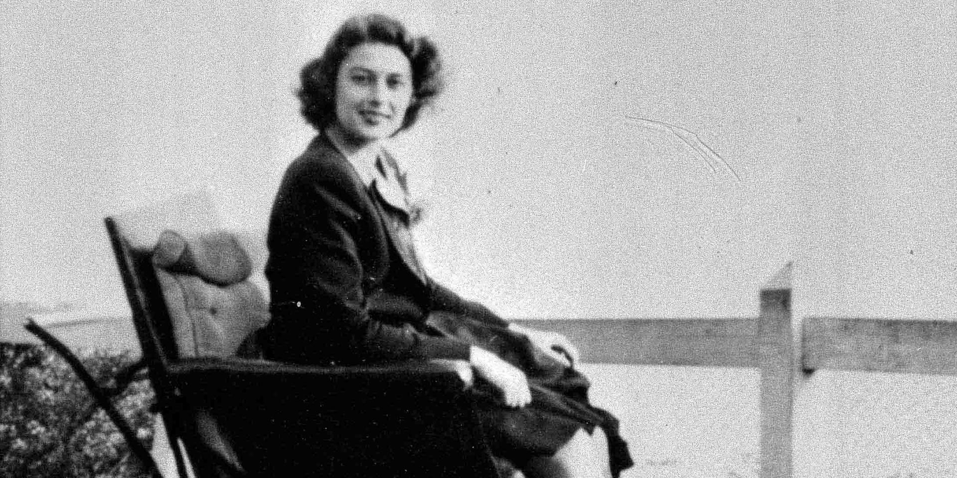 Photograph of Violette Szabo when recovering from injuring her ankle in a practice parachute jump.