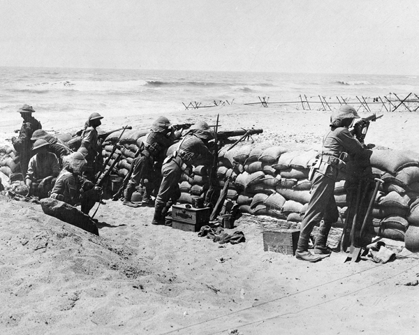 2nd Battalion The Black Watch (Royal Highlanders) on the coast near Arsuf, Palestine, 1918