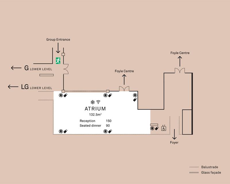 Atrium floorplan