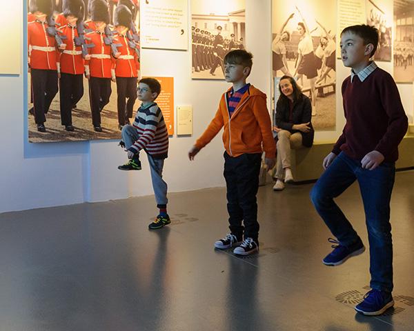Children marching