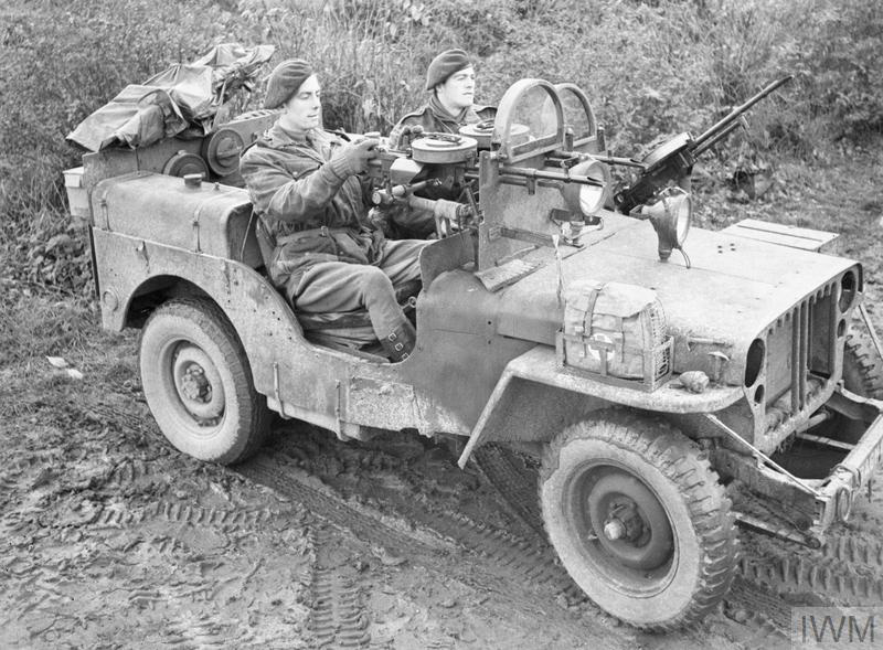 Armoured SAS jeep near Geilenkirchen in Germany, 1944