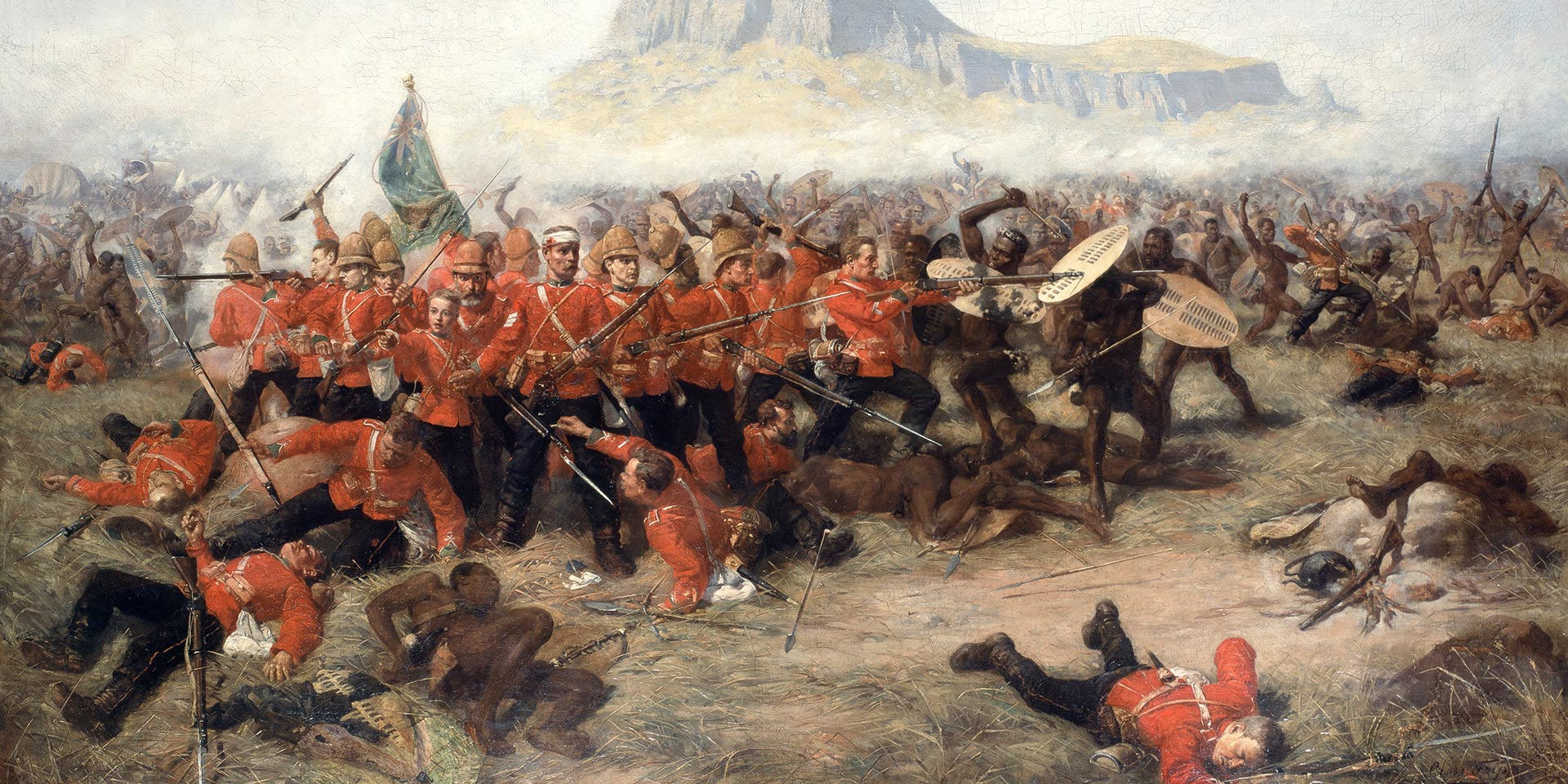 'The Battle of Isandlwana',by Charles Edwin Fripp, c1885