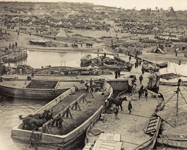 V Beach, Cape Helles, April 1915