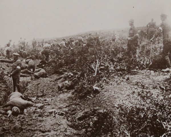 A Turkish position captured by the Wellington Mounted Rifles near Anzac Cove, 6 August 1916
