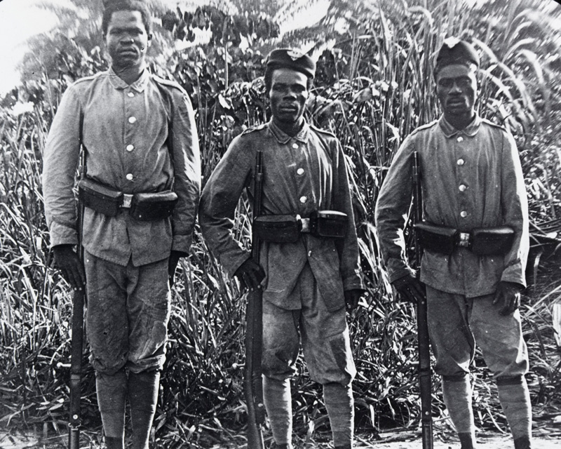 Soldiers of the German colonial forces, 1914