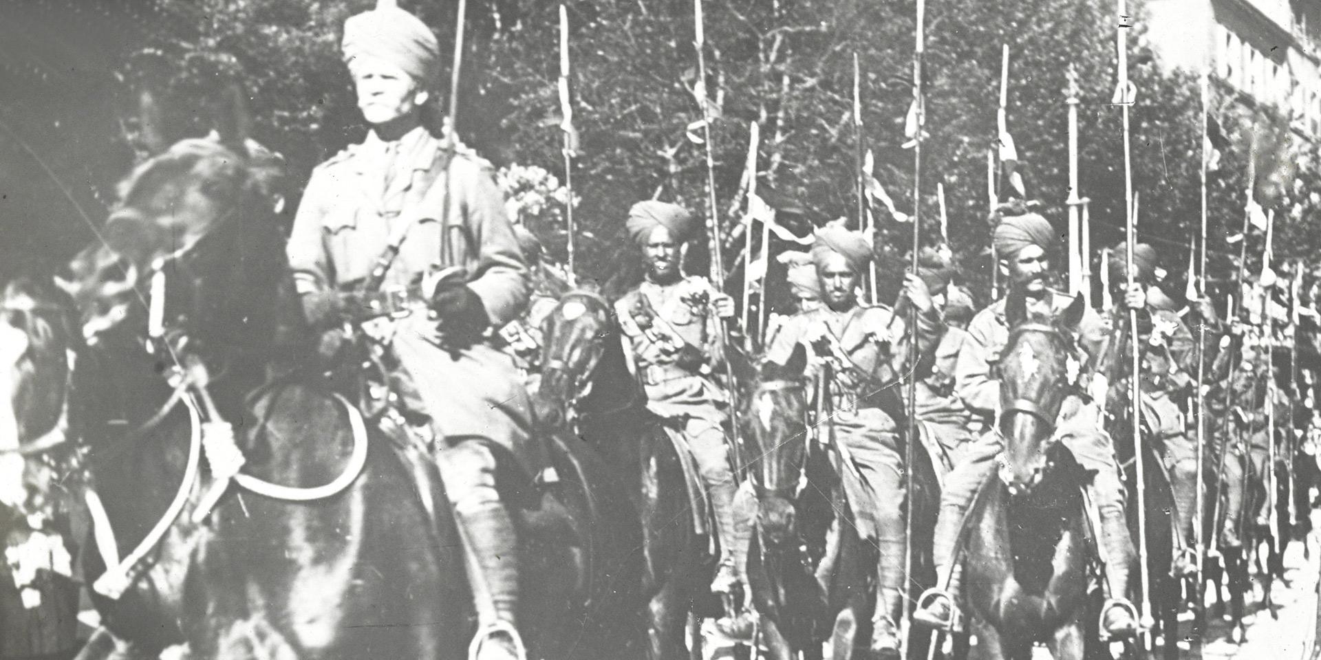 Contalmaison. Burmese troops receive their mail. Autumn 1917.