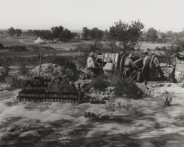 A French 75 mm gun in action at Cape Helles, 4 June 1915