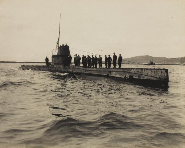 Australian submarine 'AE2', the first Allied submarine to enter the Sea of Marmara, 1915