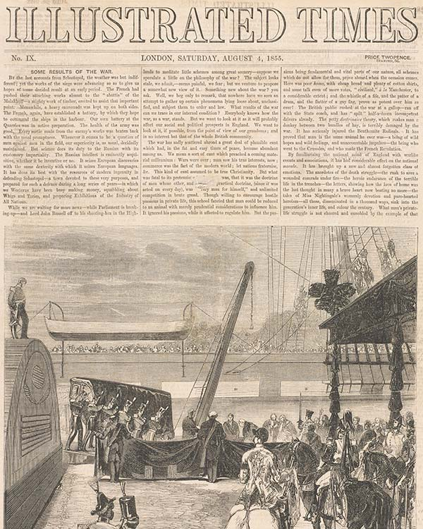 'The Illustrated Times' was one of the many competitors to 'The Illustrated London News' established in 1855
