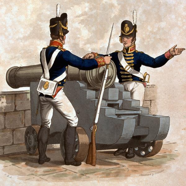 Royal Artillery, 1812