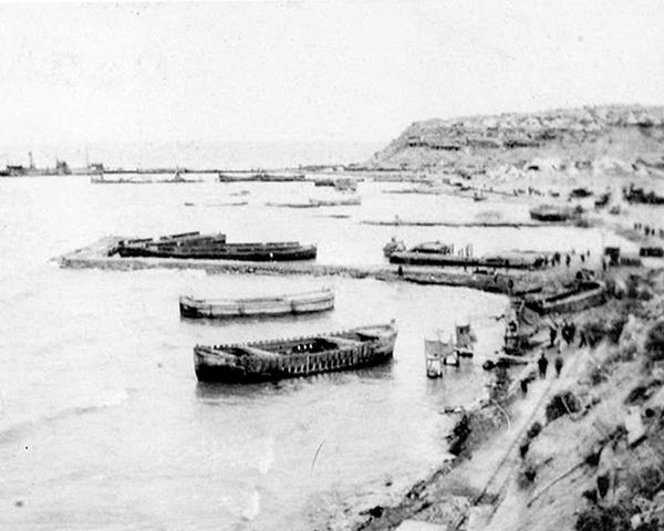 W-Beach at Cape Helles, 1915