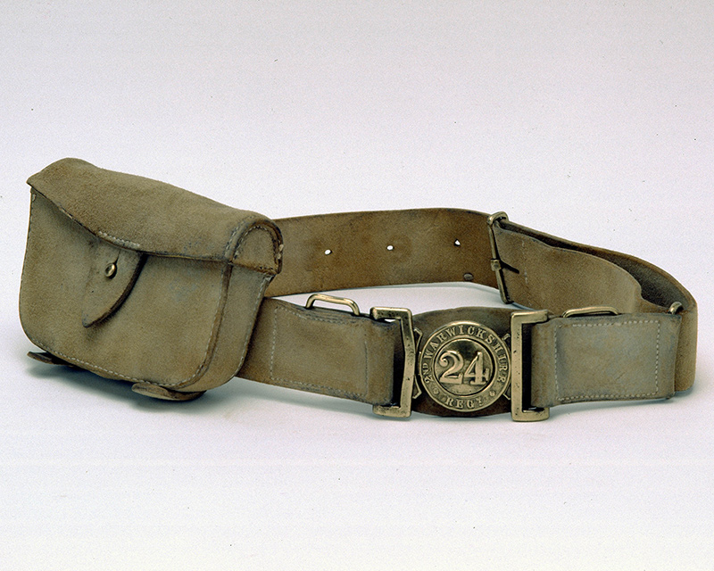 This belt was probably worn by a soldier at Isandlwana, it was taken from King Cetshwayo after his capture, he probably kept it as a trophy