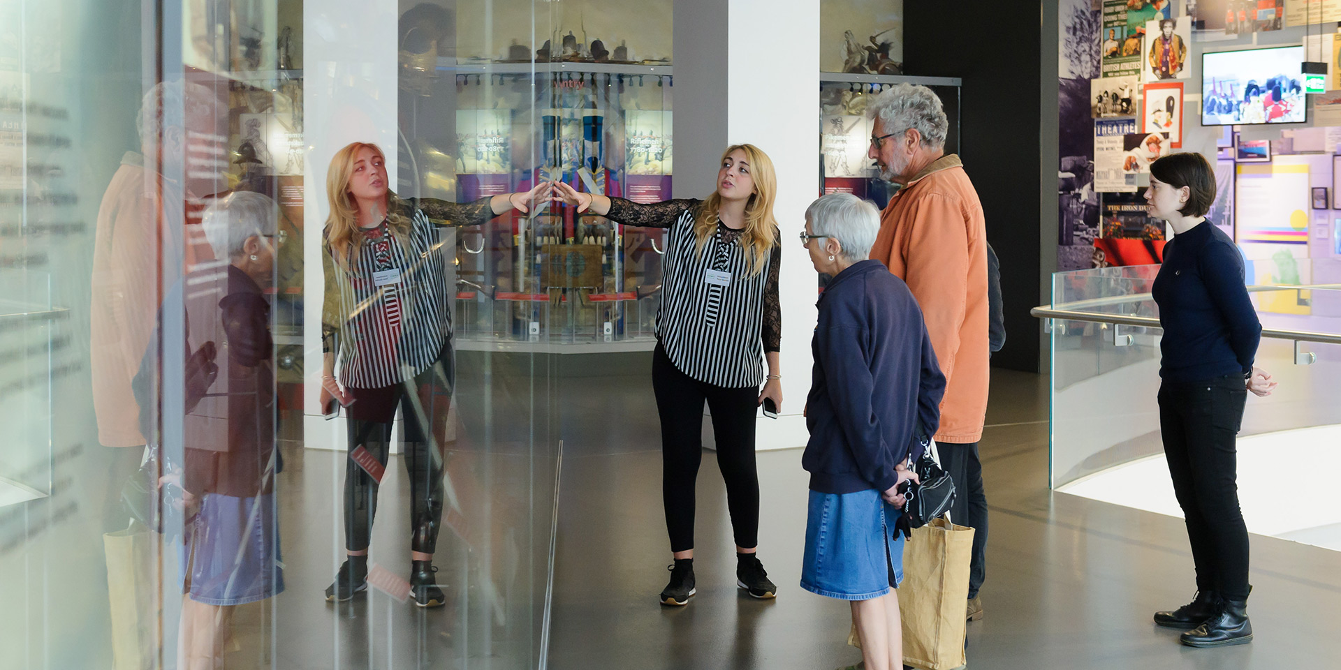 Group on tour of the museum