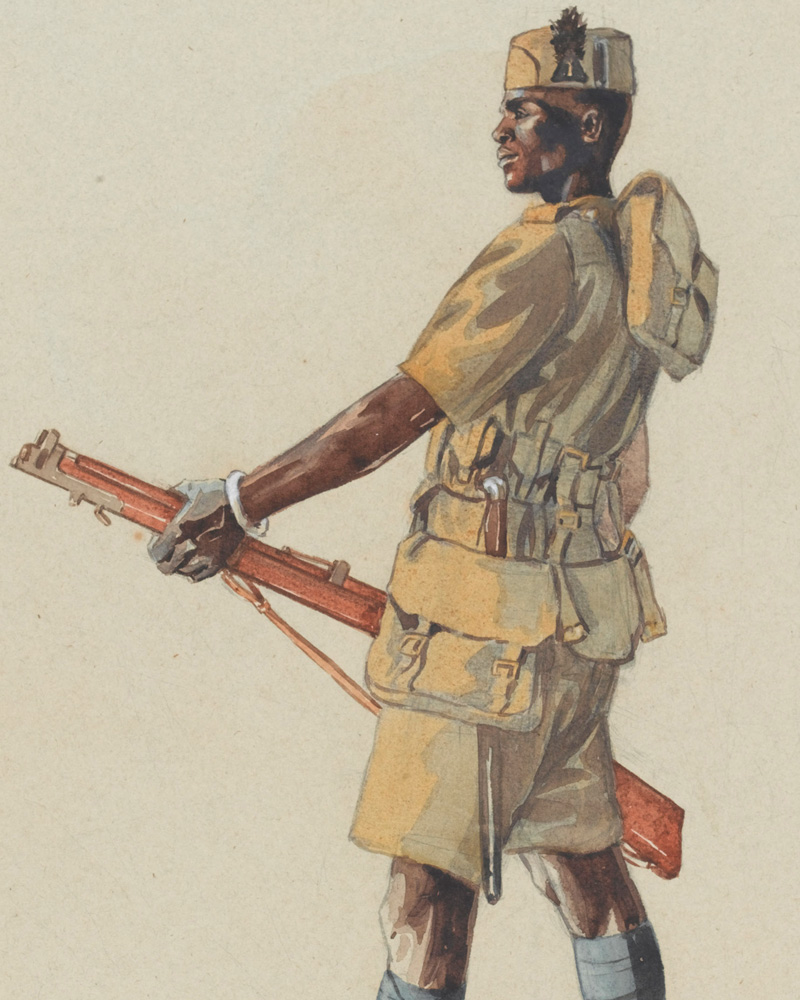 A soldier of 1st (Central Africa) Battalion, The King's African Rifles, 1914