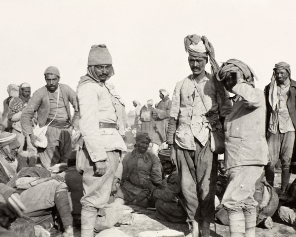 Turkish and Arab prisoners captured at Shaik Saad, 10 January 1916