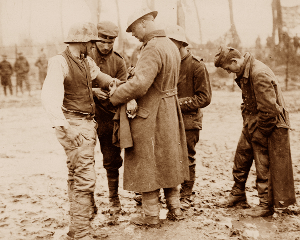 Treated wounded Germans during during the Battle of Polygon Wood, 26 September 1917