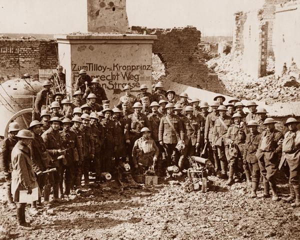 British troops who captured Tilloy, 10 April 1917