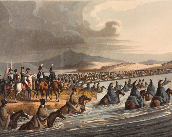 The crossing of the Niemen at the opening of the campaign in 1812