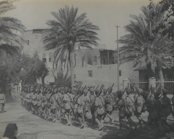 Indian troops entering the Citadel Gate, Baghdad, March 1917