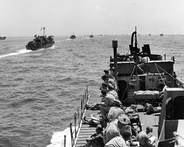 The invasion armada bound for Sicily, July 1943