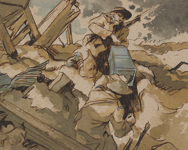 Bringing up ammunition at Arras, 1917