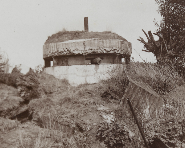 A German pillbox at Bullecourt, 1917