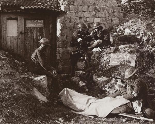 A first aid post at Monchy-le-Preux, April 1917