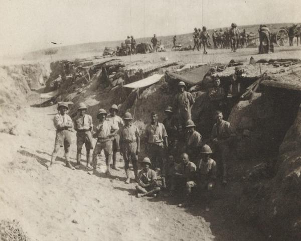 British soldiers in a wadi in Libya, October 1916