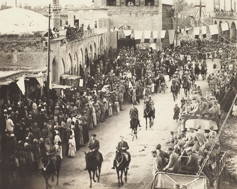 The Allied victory parade in Baghdad, 16 November 1918