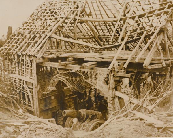 Inspecting a captured German 8-inch gun at Flesquieres, 24 November 1917