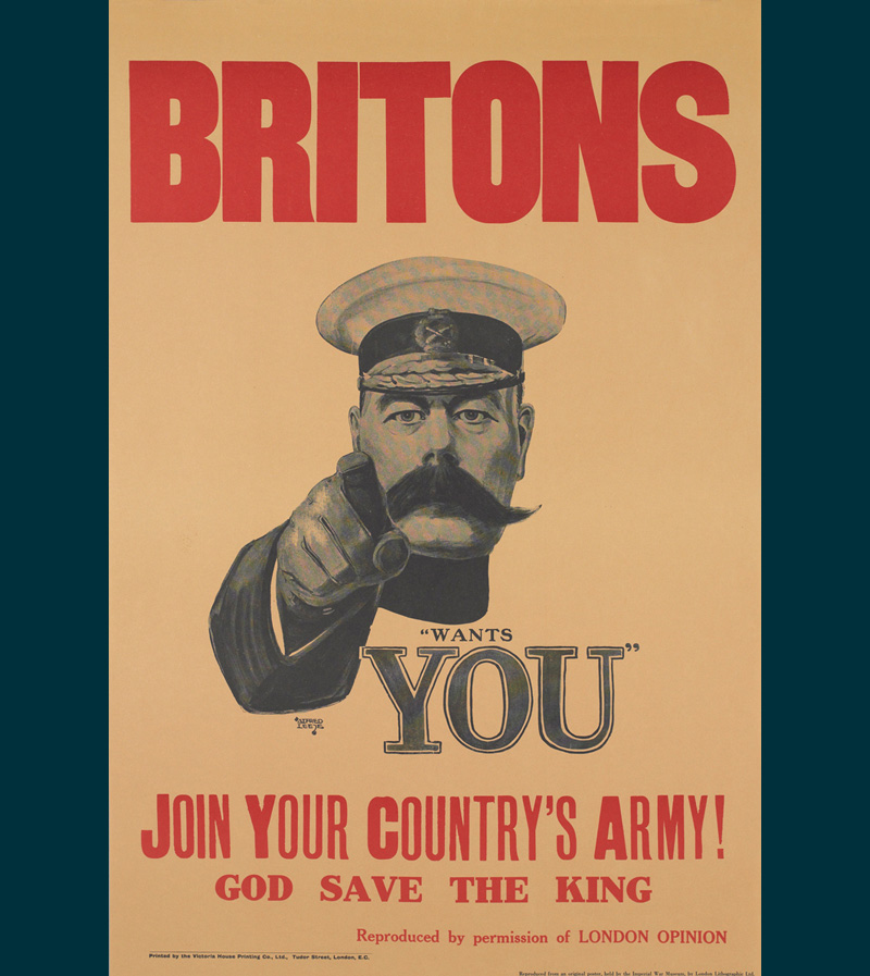 'Lord Kitchener Wants You' recruitment poster, 1914