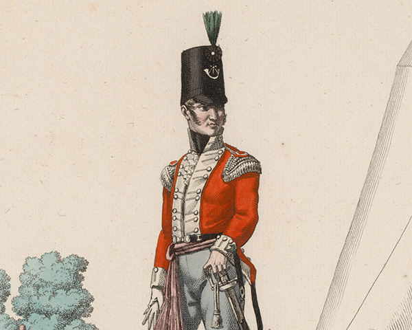 An officer of the 52nd (Oxfordshire) Regiment of Foot (Light Infantry), c1815