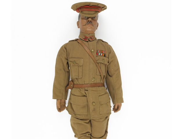 Lord Kitchener doll made by disabled veterans, 1915