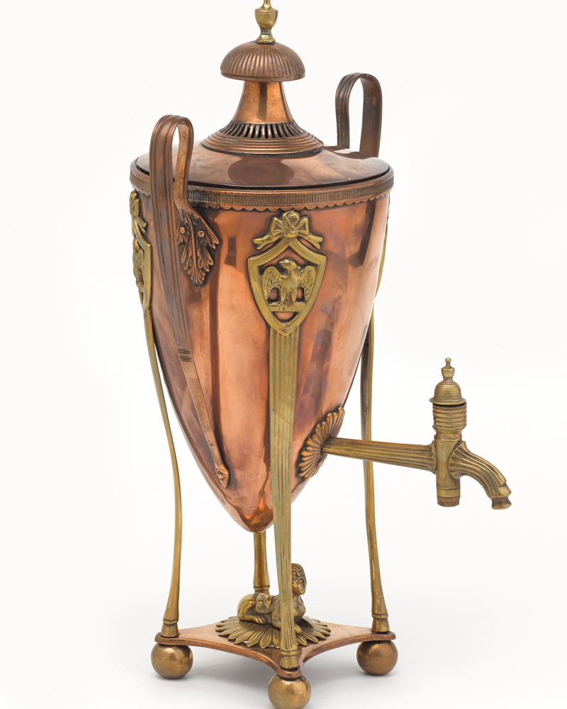 Samovar taken from Napoleon's baggage after the Battle of Waterloo, 1815