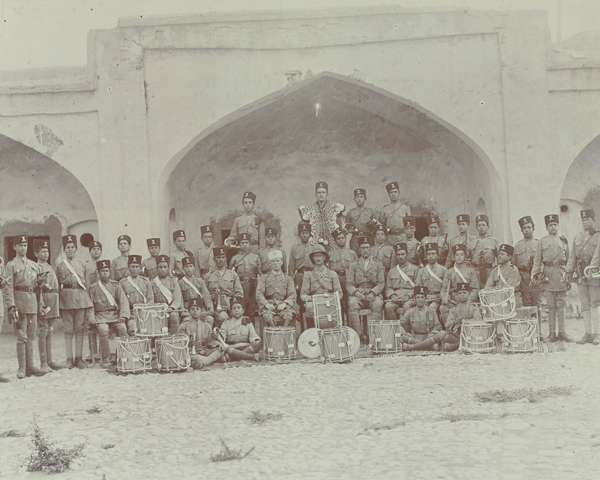 Bandsmen of the South Persia Rifles, 1918