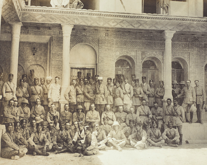 British and Persian officers of the South Persia Rifles, 1918