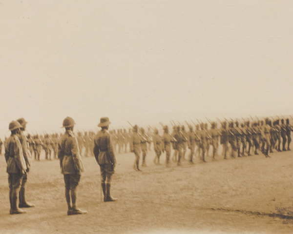 March past of the South Persia Rifles, c1918