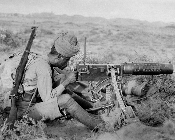 A machine gunner of the 89th Punjabis, 1916