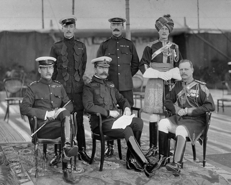 General Viscount Kitchener of Khartoum, Commander-in-Chief India, with his staff, 1903
