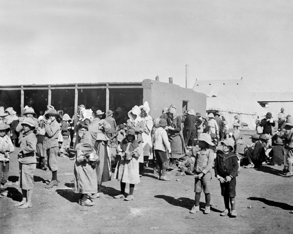 Boer women and children at a concentration camp, 1901