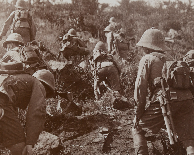 Advancing though the East African bush, 1916