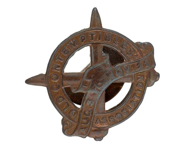 Lapel badge of the Old Contemptibles Association, 1925