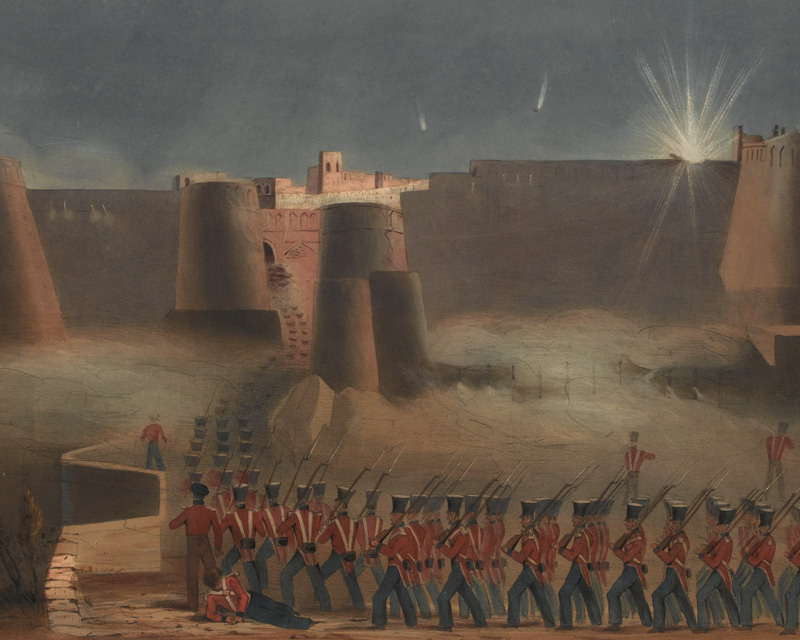 The storming column entering Ghazni fort, 23 July 1839