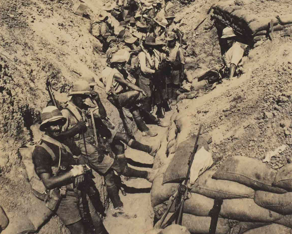 3/3rd Queen Alexandra's Own Gurkha Rifles in a front line trench, 1917