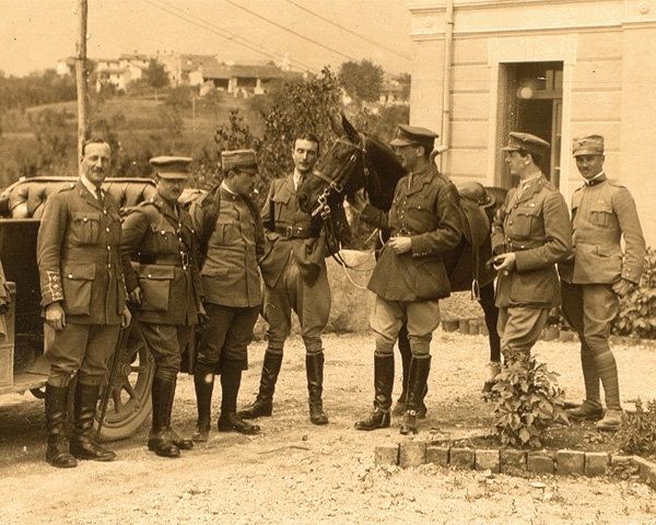 Major John Carter with British and Italian intelligence officers, 1918